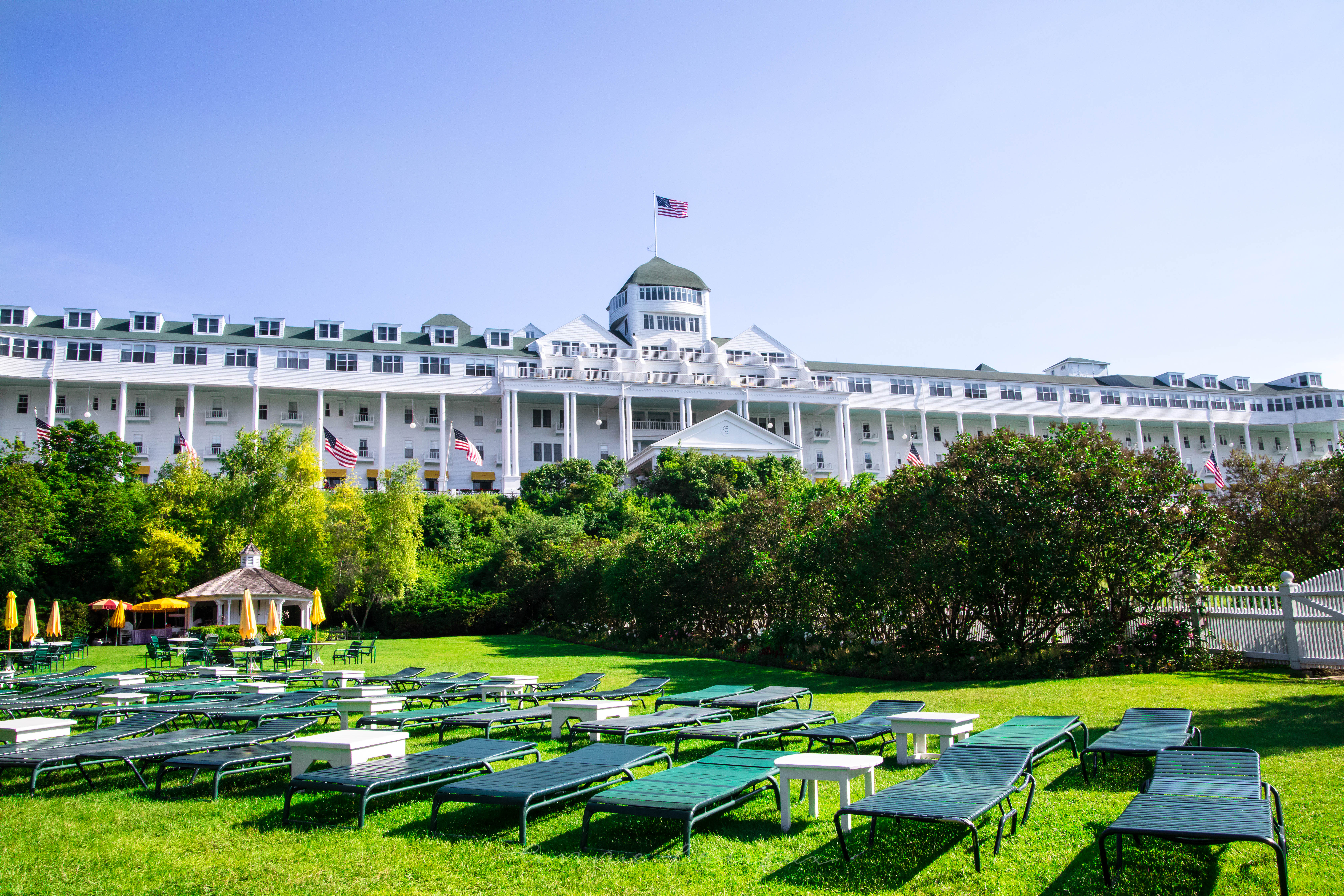 View From Esther Williams Swimming Pool Grand Hotel Mackinac Island Annie Fairfax